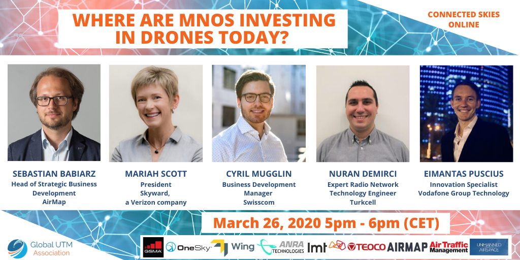 """Drones need cellular networks for full-service autonomous operations and UTM"" – GUTMA Connected Skies webinar"