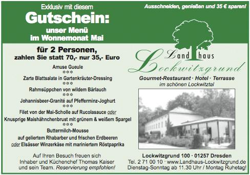 Maimenü 2009 (Landhaus Lockwitzgrund)
