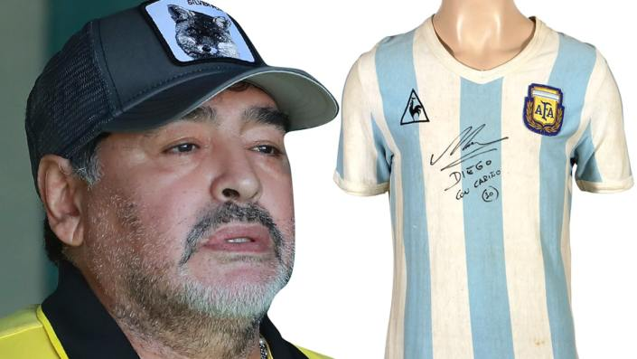 Diego Maradona jersey from first World Cup hits auction block…