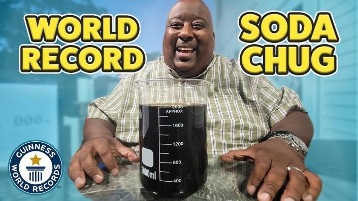 World record 2 liter soda chug…