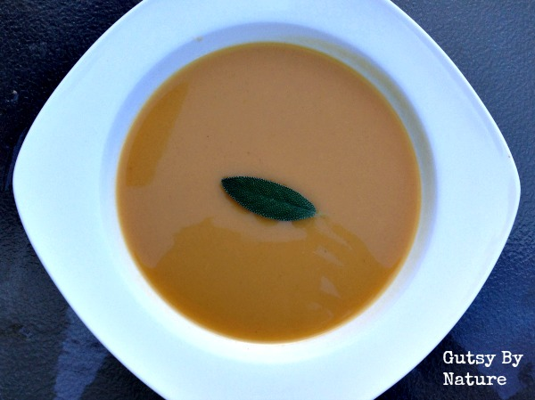 spiced apple and buttnernut squash soup