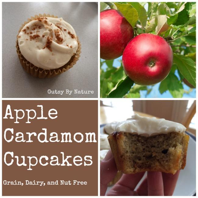 apple cardamom cupcakes