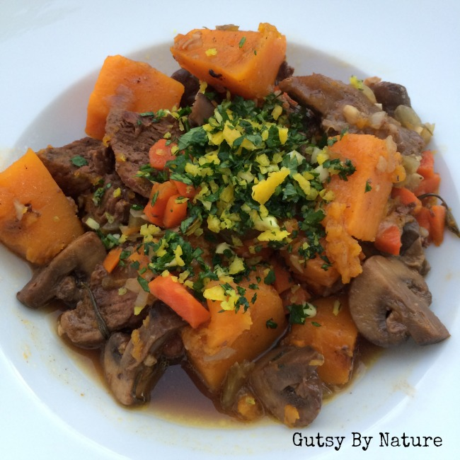 ... on a Budget: Cinnamon Beef Stew with Butternut Squash and Mushrooms
