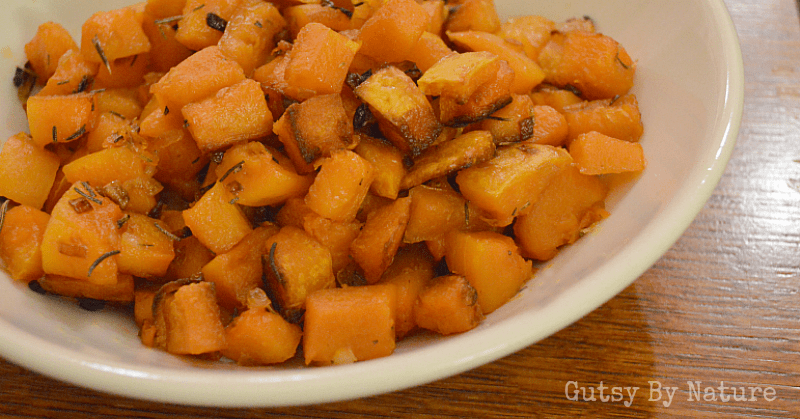 shallot and rosemary roasted butternut squash