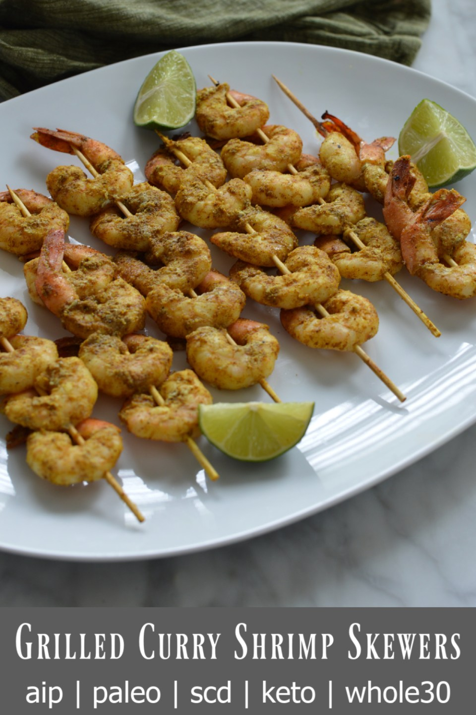 grilled curry shrimp skewers