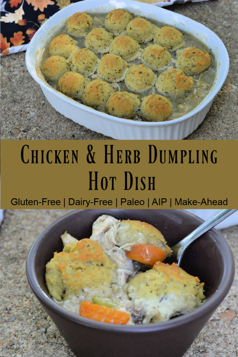 chicken and herb dumpling hot dish (AIP)
