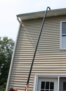 Safely clean your gutters without a ladder