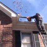 The wrong way to clean your gutters