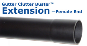 Gutter Clutter Buster Extension Female End