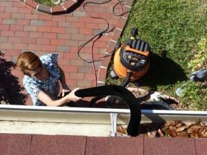 Gutter Clutter Buster clears ALL the debris