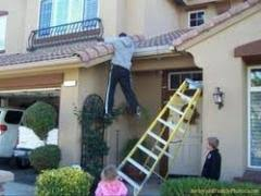 Gutter clutter buster removes the risk of falling from a ladder