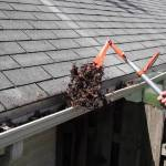 wrong way to clean gutters