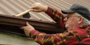 Cleaning gutters by hand is time consuming and DANGEROUS
