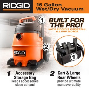 Rigid for the PRO wet dry vac with cart marketing photo