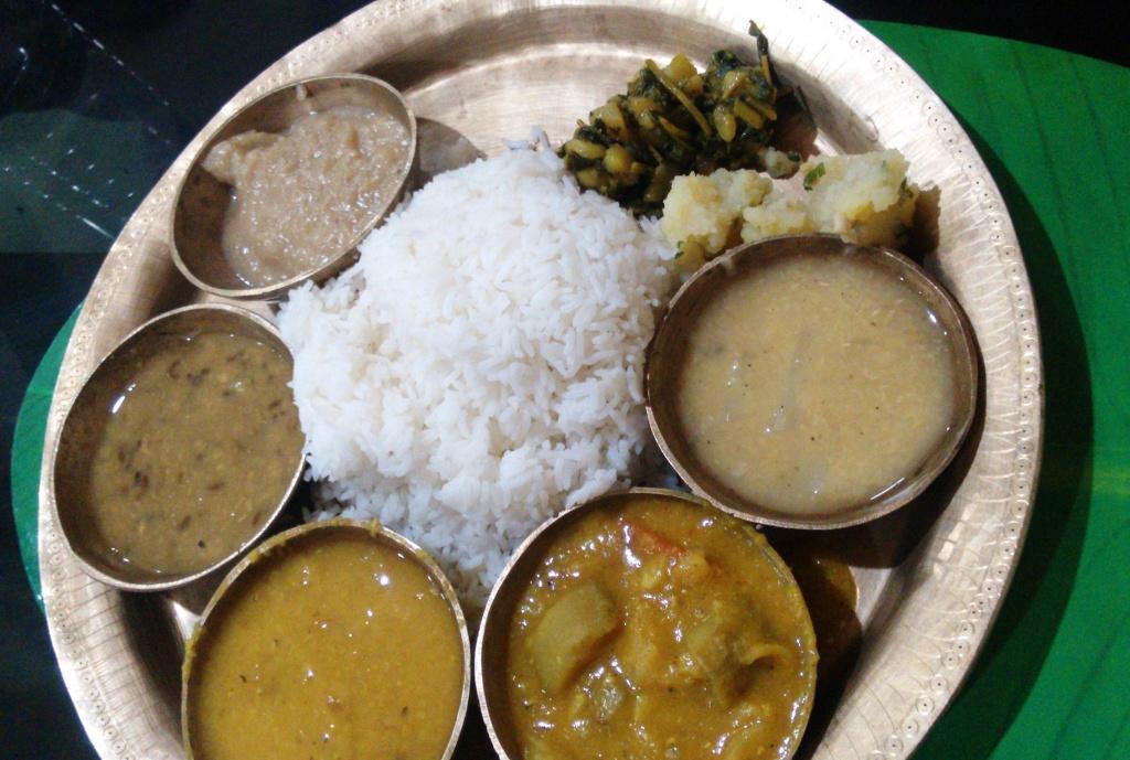 Veg Thali @ Mising Kitchen #GuwahatiFoodie