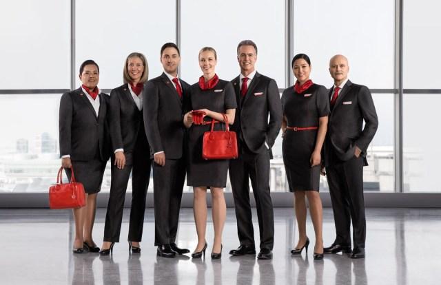 Air Canada new uniform