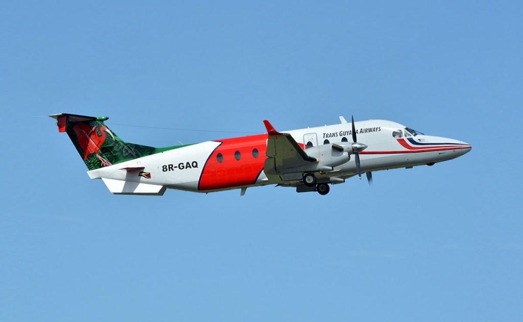 TGA B1900 takeoff