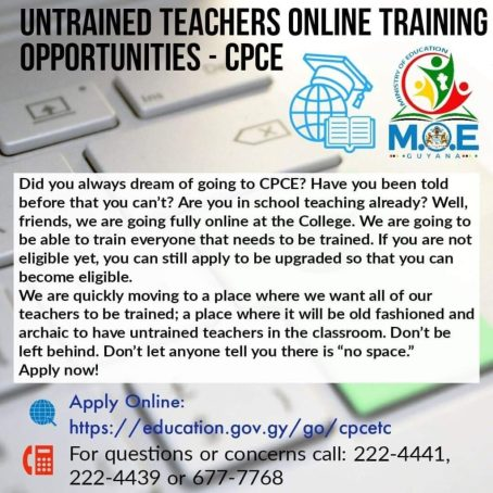 Ministry of Education Aims to Train ALL Guyanese Teachers from the Comfort of their Own Homes