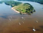 Baganara Island Resort - Overhead View
