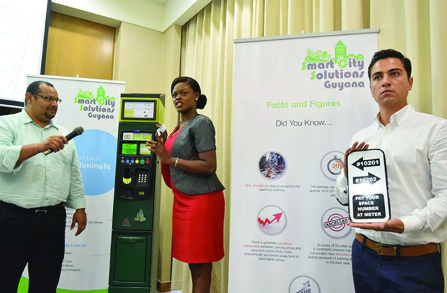 A demonstration of the use of the parking meter system
