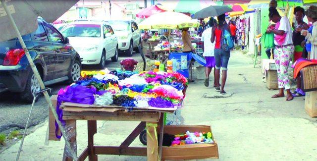 Vendors plying their trade on Regent Street