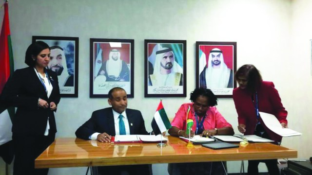 Minister within Public Infrastructure Ministry Annette Ferguson signing the agreement