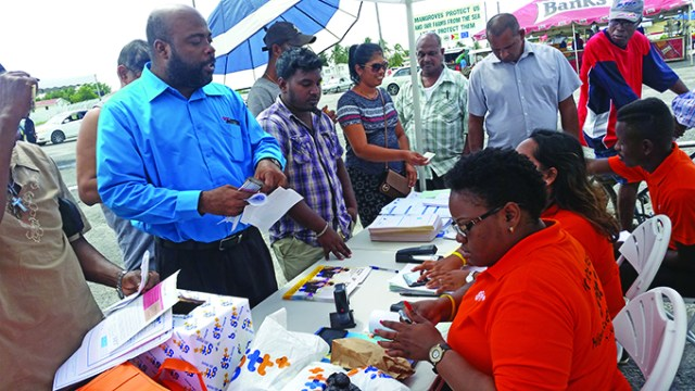 Persons flocked the GTT booth to access the services