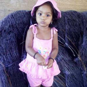 The injured child,  Divya Gurucharran, who is hospitalised
