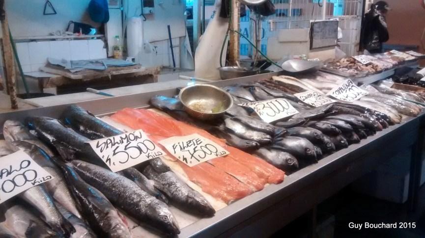 Le poisson au Mercado Central de Santiago