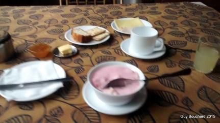 Mon déjeuner à l'hotel Termas de Socos