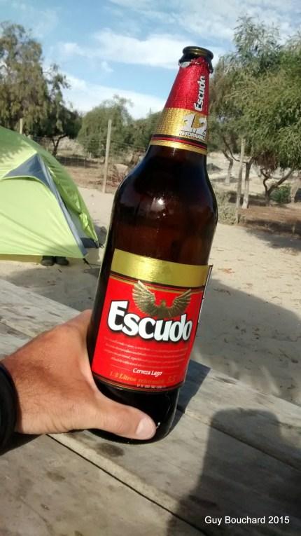 1.2L de bière dans ce cas la Escudo (goûteuse!)