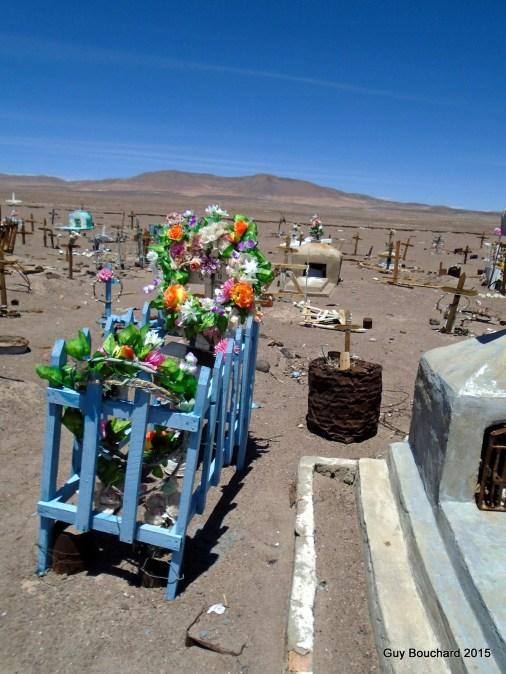 Le cimetière de la ville fantôme Oficina Chile