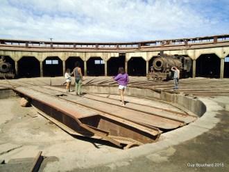Table tournante pour trains au musée ferroviaire de Baquedano
