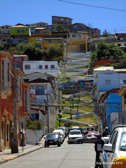 Des escaliers à Coquimbo