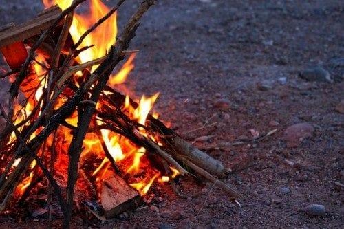 wilderness survival fire