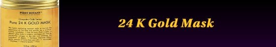 24 k gold mask for men