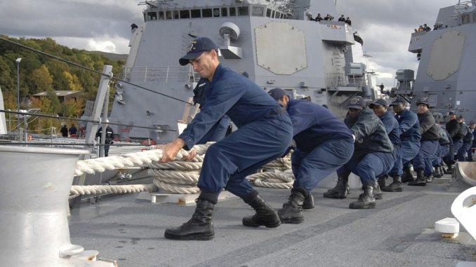 sailors on a ship