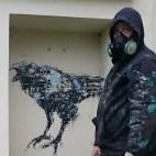 "A hidden ""Mon Coeur Beau"" spray up in Brest."