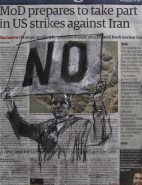 'Noor Khan - London (war is a racket)', conte and pastel on newsprint, 27 x 36cm
