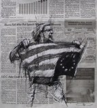 'occupy Wall Street (the lost ideal)', conte and pastel on newsprint, 30 x 30cm