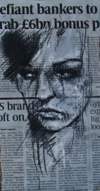 'resentment starts at home', conte and pastel on newsprint, 15 x 30cm