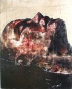 """slaughterhouse (land of the cockaigne)"", oil on canvas, 40 x 51cm"
