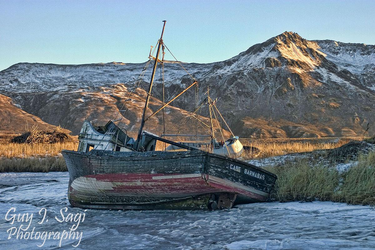 Old Harbor Kodiak Island, Kodiak Island Alaska, frozen shipwreck, Guy J. Sagi, Fear and Loading