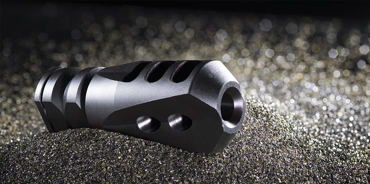 Mission First Tactical E2ARMD4 Compensator, Mission First Tactical Tapered three port compensator, Guy J. Sagi, gun porn, firearm photography, Fear and Loading