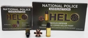 National Police Ammunition Introduces 9 mm Solid Copper Hollow Point +P HELO Defense Round