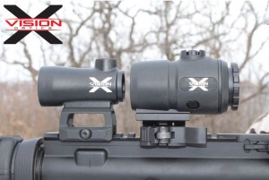X-Vision Optics Red Dots and Magnifier