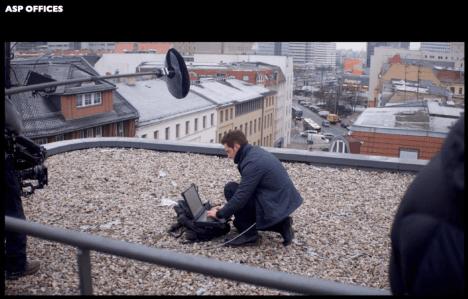 Daniel spying on roof
