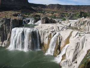 Shoshone Falls, one of the falls in the Snake River Canyon near Twin Falls, Idaho.