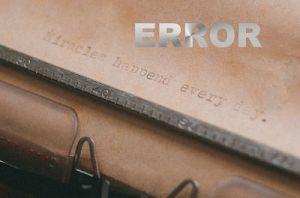 Error | Guy L. Pace