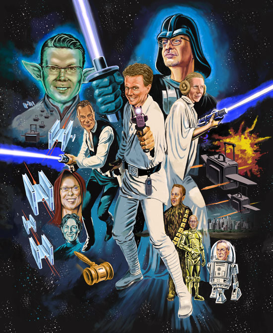 Star wars spoof poster